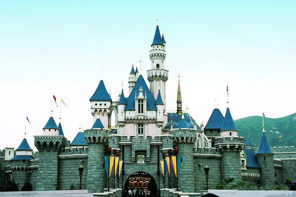 迪士尼城堡速写_