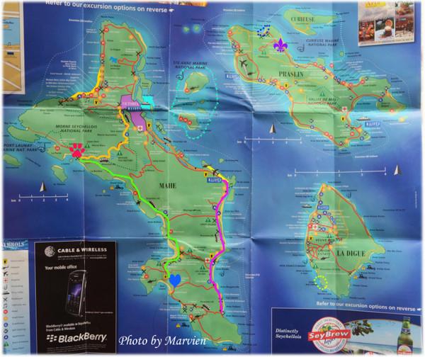 塞舌尔的地图