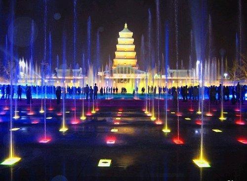 大的北广场音乐喷泉
