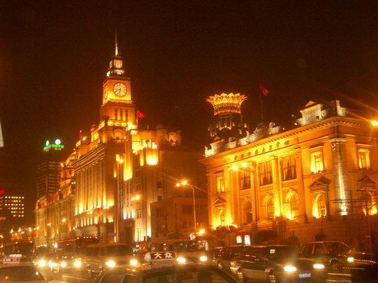 欧式的建筑,妖娆的灯光