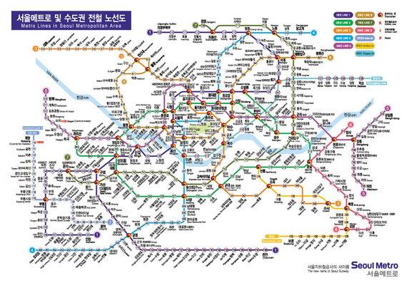 韩国地铁路线图