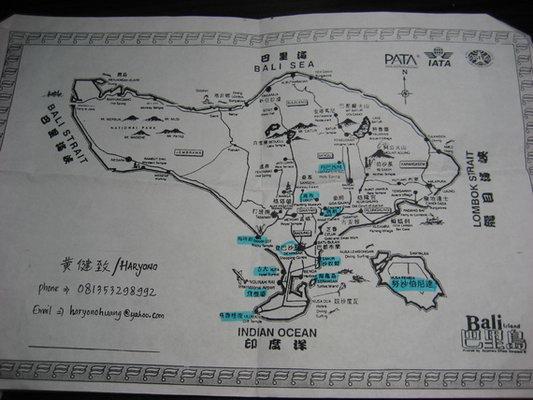 巴厘岛木雕村地图