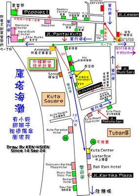 新加坡 手绘地图