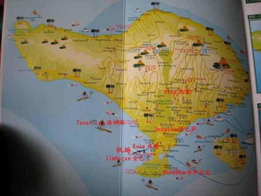 巴厘岛地图