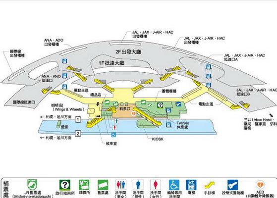 北海道景点地图中文版