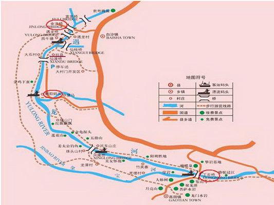 桂林景点手绘地图