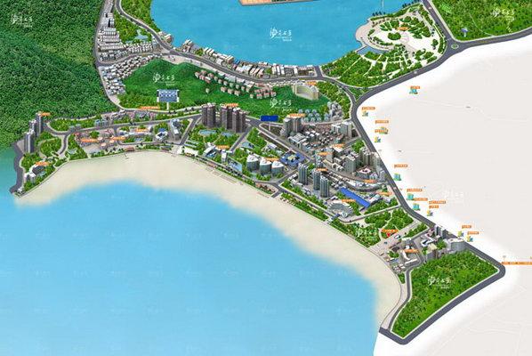 三亚湾+市区地图
